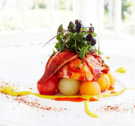 Lobster salad with mango emulsion \ Friday food