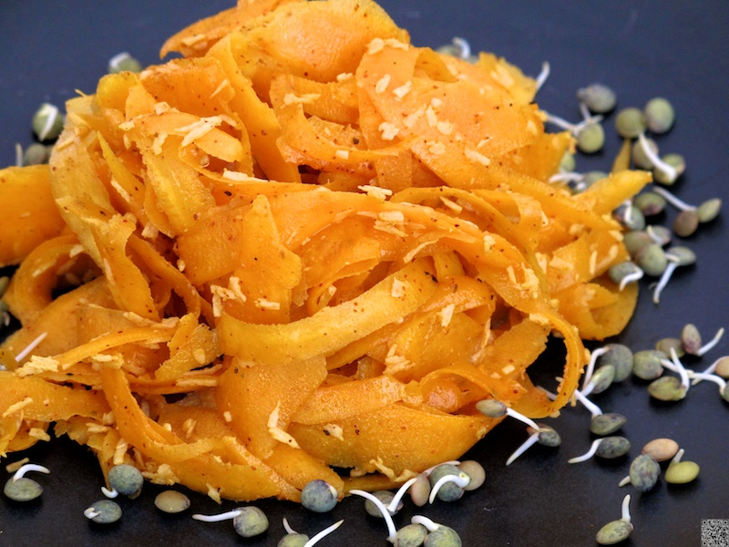 "Friday Food \ Curried Butternut ""Noodles"""
