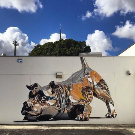 Metallic-Dog-Mural-0